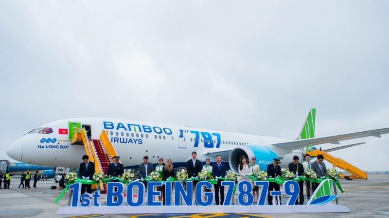 Phó Chủ tịch Quốc Hội biểu dương Bamboo Airways tại Lễ đón máy bay thân rộng Boeng 787-9 Dreamliner