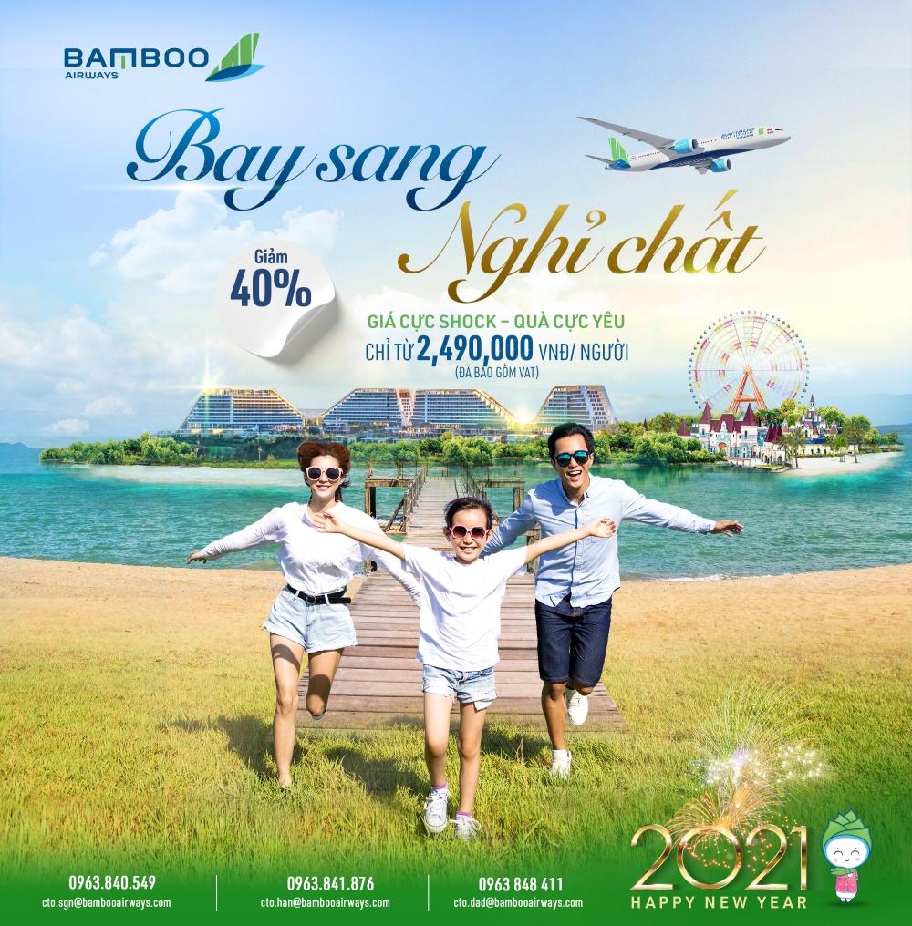 """Bamboo Airways tung combo trọn gói """"chất lừ"""" dịp Tết Dương lịch, ưu đãi tới 40%"""