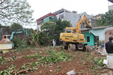 Cưỡng chế thu hồi đất tại phường Trung Văn