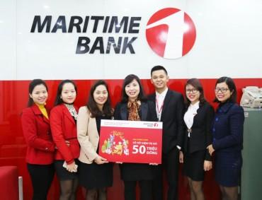 Chủ nhân giải thưởng 50 triệu đồng đầu tiên của Maritime Bank