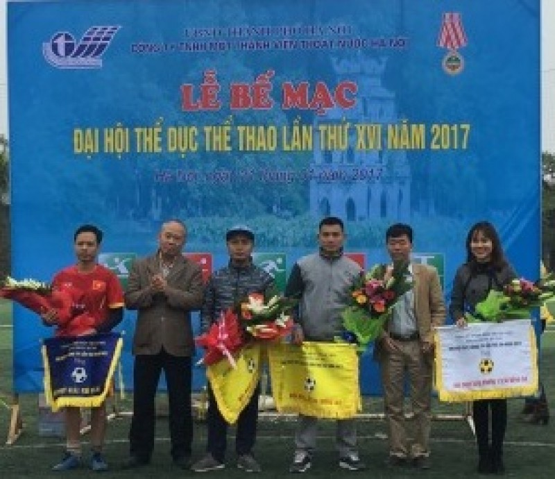 Bế mạc Hội khỏe Công ty Thoát nước Hà Nội năm 2017