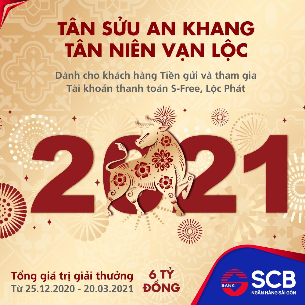 SCB triển khai chương trình khuyến mãi lớn nhất năm với tổng giá trị giải thưởng 6 tỷ đồng