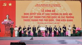 Hàng nghìn người có mặt tại khu đô thị mới An Thới chào đón Phú Quốc lên thành phố