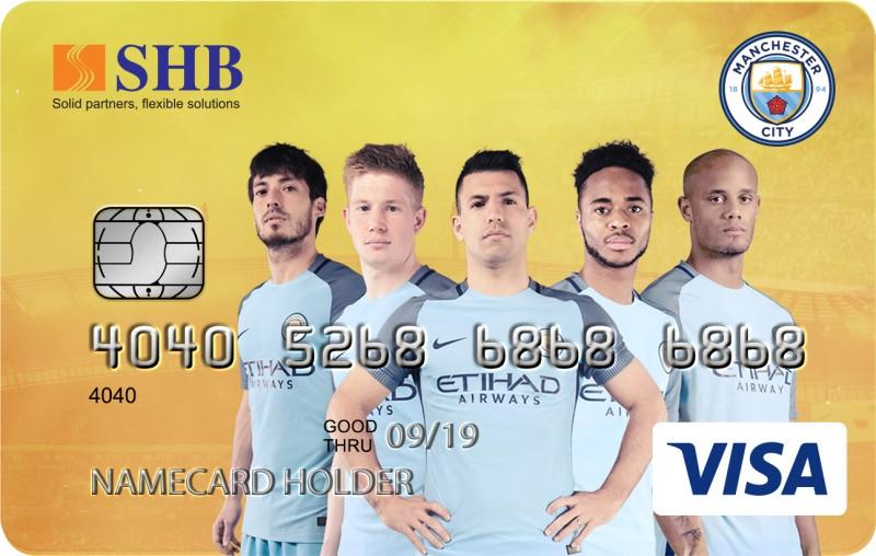Ra mắt thẻ tín dụng hoàn tiền đồng thương hiệu SHB-ManCity Visa Cashback