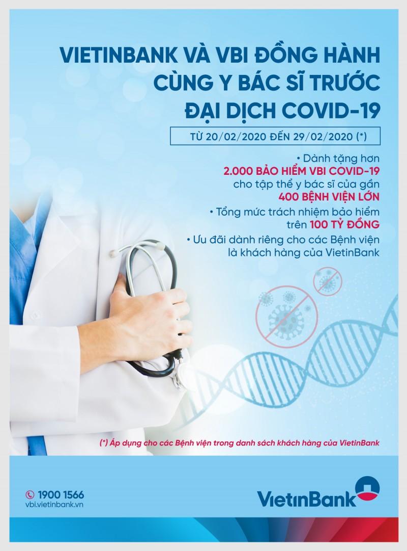 VietinBank và VBI đồng hành cùng các y, bác sỹ trước đại dịch COVID-19