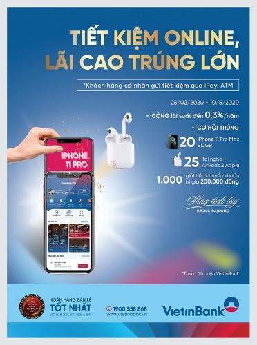 Gửi tiết kiệm online trúng iPhone 11 Pro Max