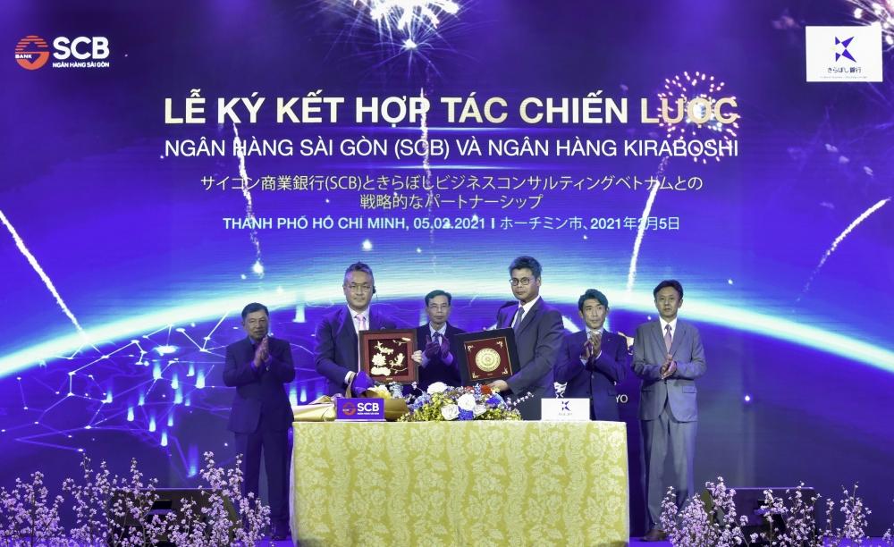SCB ký kết hợp tác chiến lược với đại diện Ngân hàng Kiraboshi tại Việt Nam