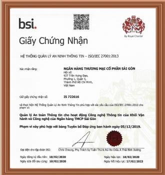 SCB đạt nhiều chứng chỉ bảo mật quốc tế quan trọng