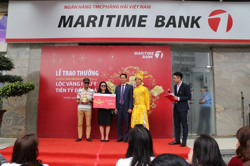 Vừa mở tài khoản, khách hàng Maritime Bank trúng ngay 1 tỷ đồng
