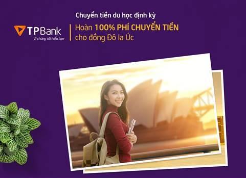 TPBank hoàn 100% phí chuyển tiền du học Australia