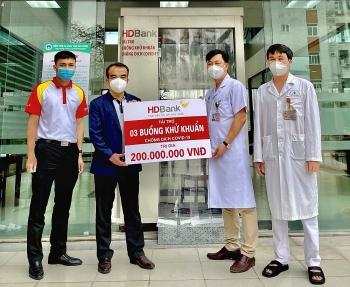 Hỗ trợ Hải Dương phòng chống dịch Covid - 19, HDBank tặng 3 buồng khử khuẩn