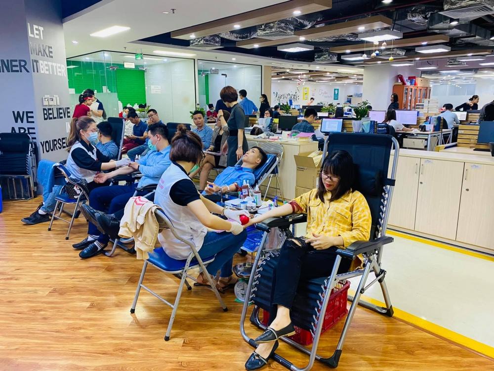 Gần 100 đoàn viên, người lao động Công ty Ecoba Việt Nam hiến máu tình nguyện