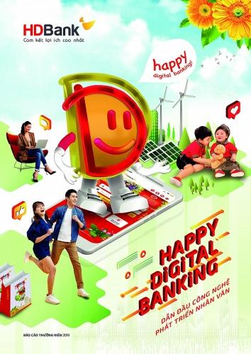 """Báo cáo thường niên 2019, HDBank định hướng phát triển """"Happy Digital Bank"""""""
