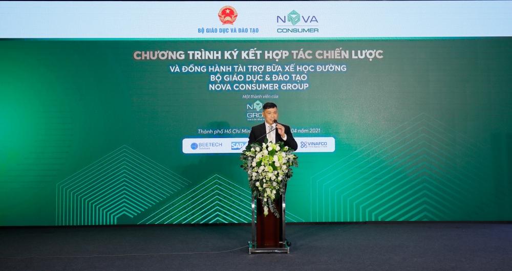Nova Consumer Group hợp tác cùng Bộ Giáo dục và Đào tạo triển khai chương trình Bữa xế học đường