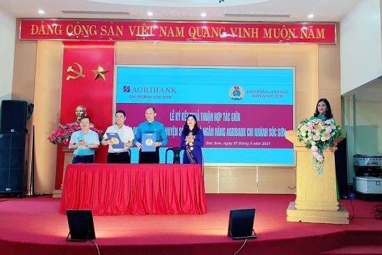 Liên đoàn Lao động huyện Sóc Sơn: Ký kết thỏa thuận hợp tác về phúc lợi đoàn viên