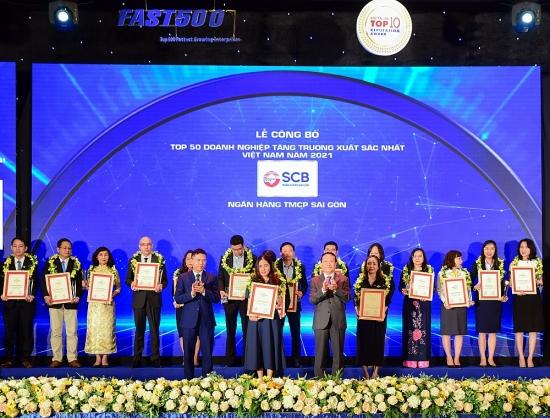 SCB lọt top 50 doanh nghiệp tăng trưởng xuất sắc nhất Việt Nam năm 2021