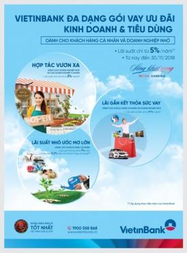 VietinBank ưu đãi lãi suất cho vay
