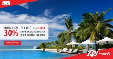 Hoàn tiền tới 30% dành cho chủ thẻ Maritime Bank Visa