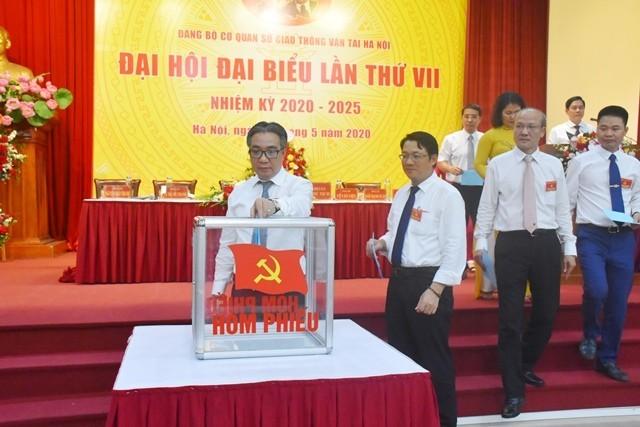 Đại hội Đảng bộ Sở Giao thông Vận tải Hà Nội, nhiệm kỳ 2020 2025