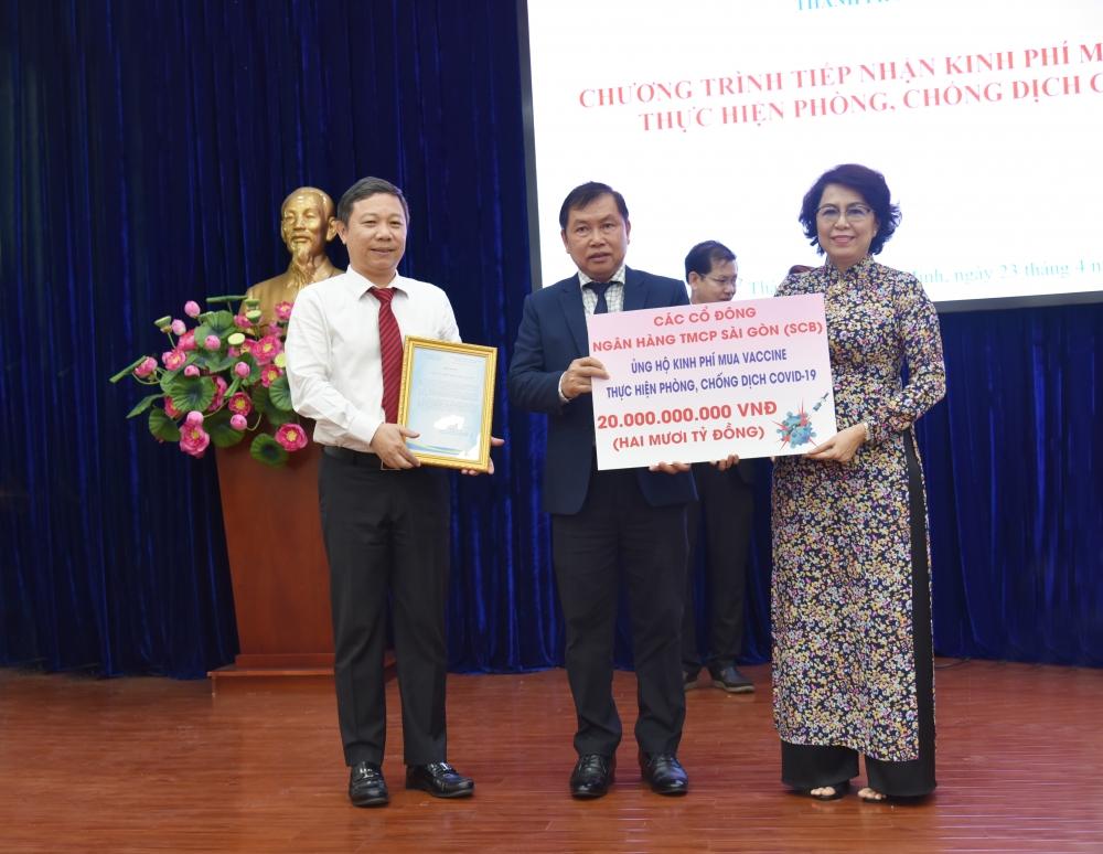 SCB góp 20 tỷ đồng vào Quỹ phòng chống dịch Covid-19 của Thành phố Hồ Chí Minh