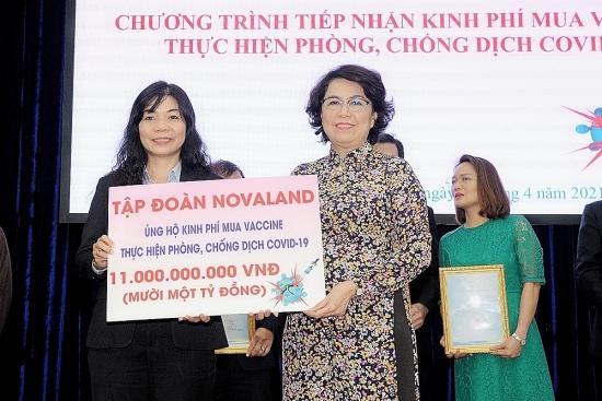 Tập đoàn Novaland trao tặng 11 tỷ đồng mua vắc xin phòng ngừa Covid-19