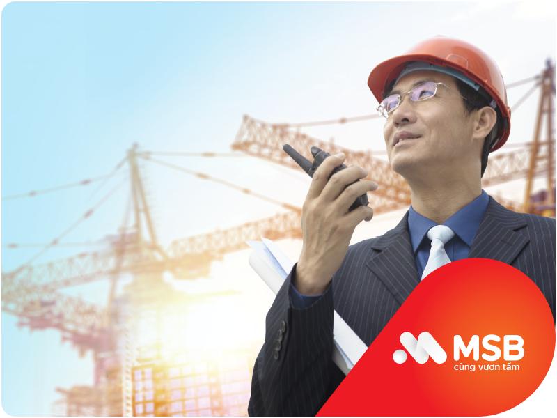MSB ưu đãi doanh nghiệp xây dựng đấu thầu trực tiếp gói thầu vốn ngân sách Nhà nước