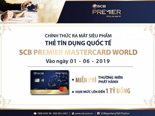 Ra mắt thẻ tín dụng quốc tế SCB Premier Mastercard World