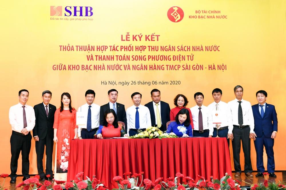 SHB ký kết thỏa thuận hợp tác phối hợp thu ngân sách Nhà nước