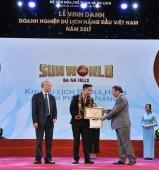 Sun World Ba Na Hills năm thứ 3 được vinh danh khu du lịch hàng đầu Việt Nam