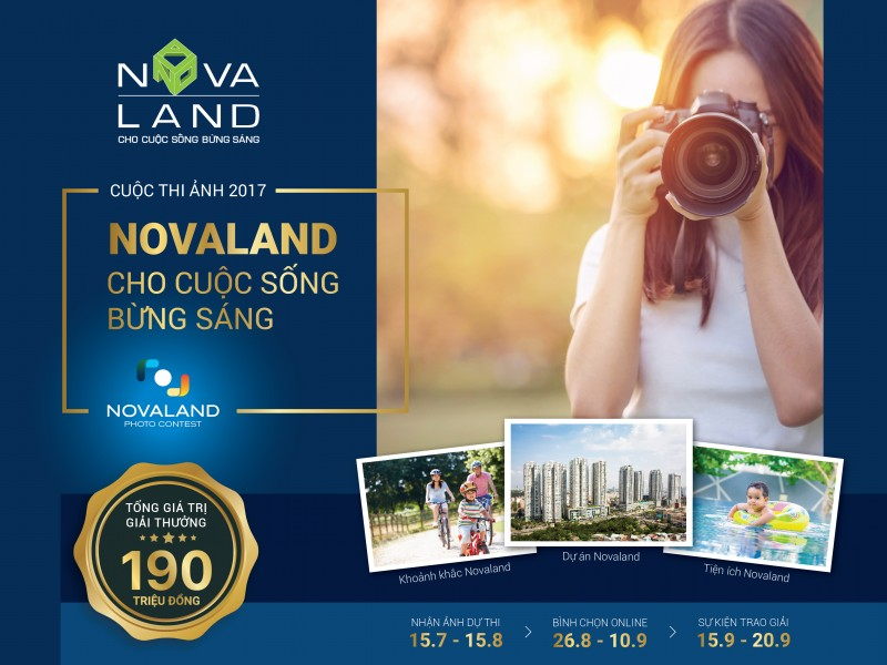 Khởi động cuộc thi ảnh 'Novaland - Cho cuộc sống bừng sáng'