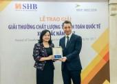 Lần thứ 8 liên tiếp, SHB được vinh danh Ngân hàng có dịch vụ thanh toán quốc tế xuất sắc