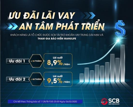 SCB triển khai gói vay ưu đãi chỉ 8,9%/năm dành cho doanh nghiệp