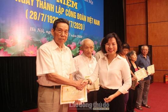 Liên đoàn Lao động Thành phố Hà Nội gặp mặt cán bộ hưu trí