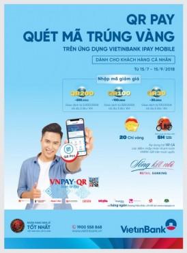 """Cùng VietinBank iPay Mobile """"QRPay, quét mã trúng vàng"""""""
