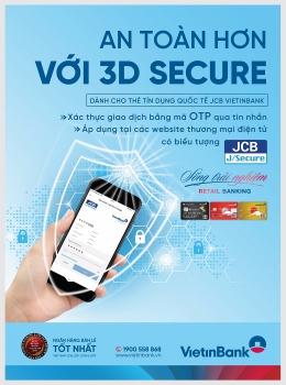 VietinBank triển khai tính năng bảo mật 3D Secure cho thẻ Tín dụng Quốc tế JCB