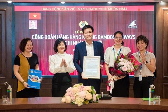 Ra mắt công đoàn cơ sở Hãng hàng không BamBoo Airways chi nhánh Hà Nội
