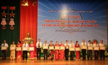 """Quận Bắc Từ Liêm: Biểu dương hơn 400 """"Người tốt, việc tốt"""""""