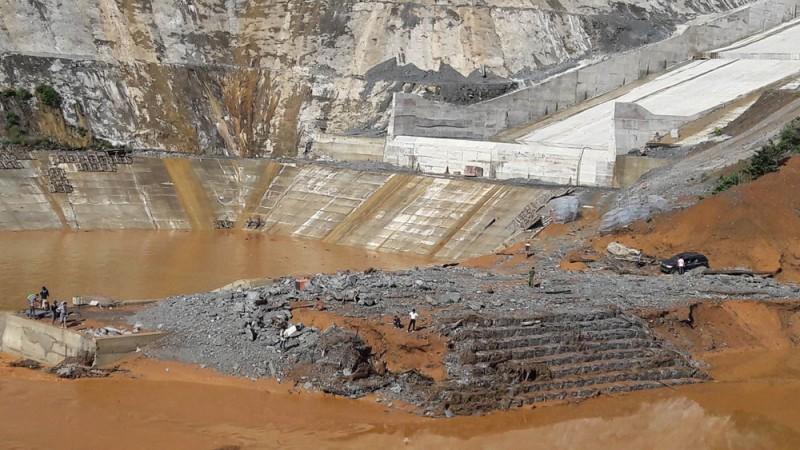 Sự cố thủy điện Sông Bung 2: Các hạng mục công trình đã hoạt động bình thường