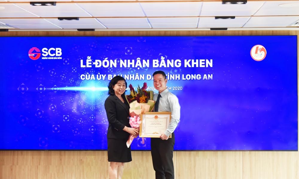 SCB nhận bằng khen vì có thành tích đóng góp cho hoạt động an sinh xã hội tỉnh Long An