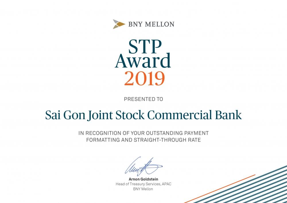 SCB nhận giải thưởng Ngân hàng có chất lượng thanh toán quốc tế xuất sắc năm 2019