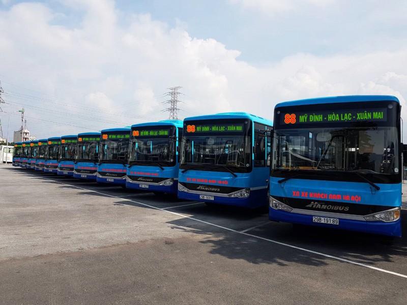 Thay xe mới tuyến buýt 88: Bến xe Mỹ Đình – Hòa Lạc – Xuân Mai