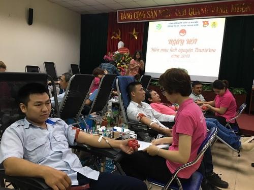 Gần 300 đơn vị máu được trao tặng từ Ngày hội hiến máu Transerco năm 2019