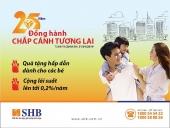 Thêm lãi suất khi mở tài khoản SHB tiết kiệm cho con