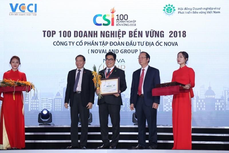 Novaland lọt top 100 doanh nghiệp bền vững năm 2018