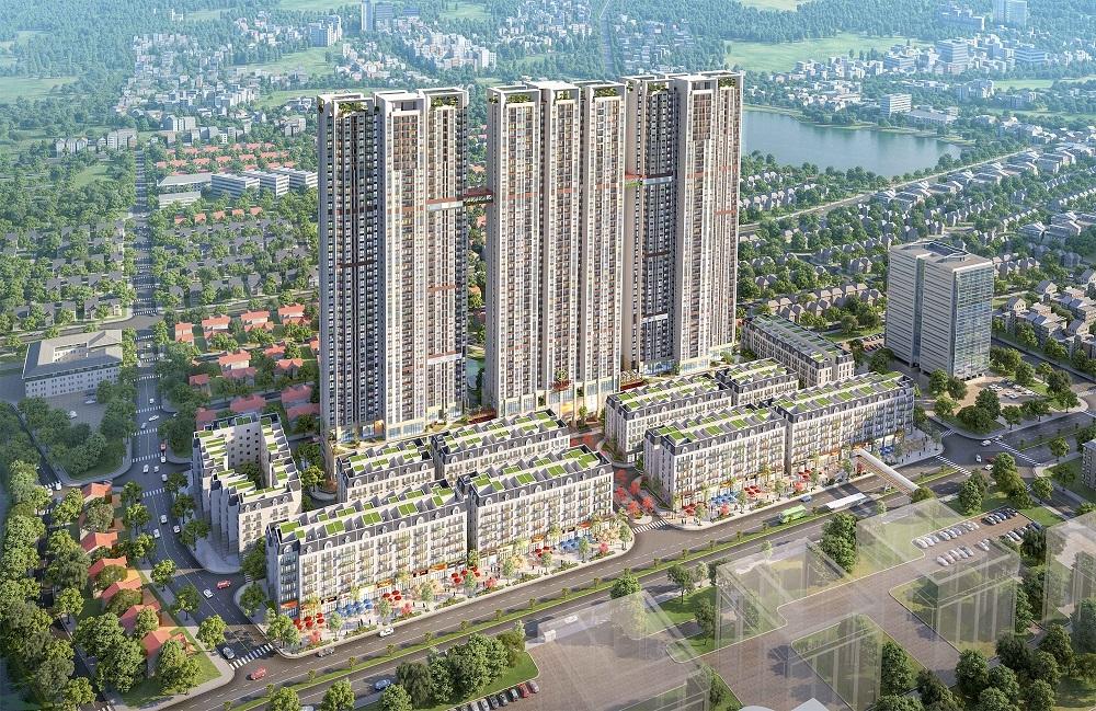 Văn Phú - Invest tổ chức lễ cất nóc dự án The Terra - An Hưng