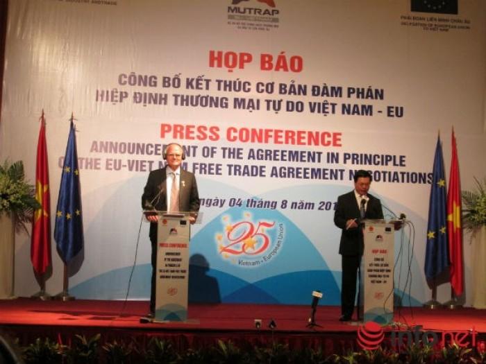 Kết thúc đàm phán Hiệp định thương mại tự do Việt Nam – EU