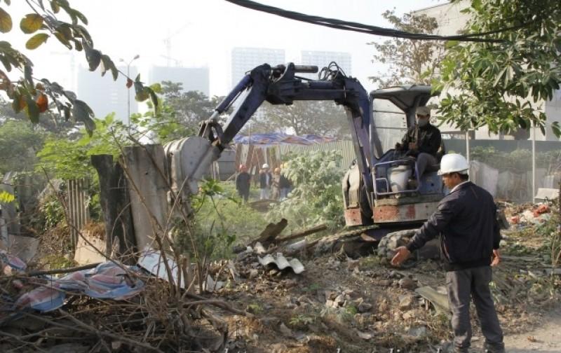 Cưỡng chế thu hồi đất thực hiện dự án hạ tầng khu Ngoại giao đoàn