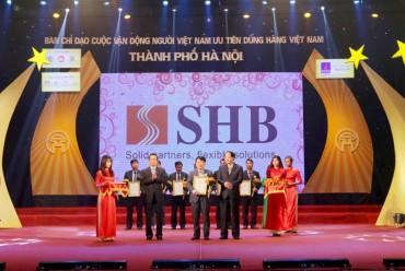 SHB lọt top 10 thương hiệu Việt được người tiêu dùng yêu thích