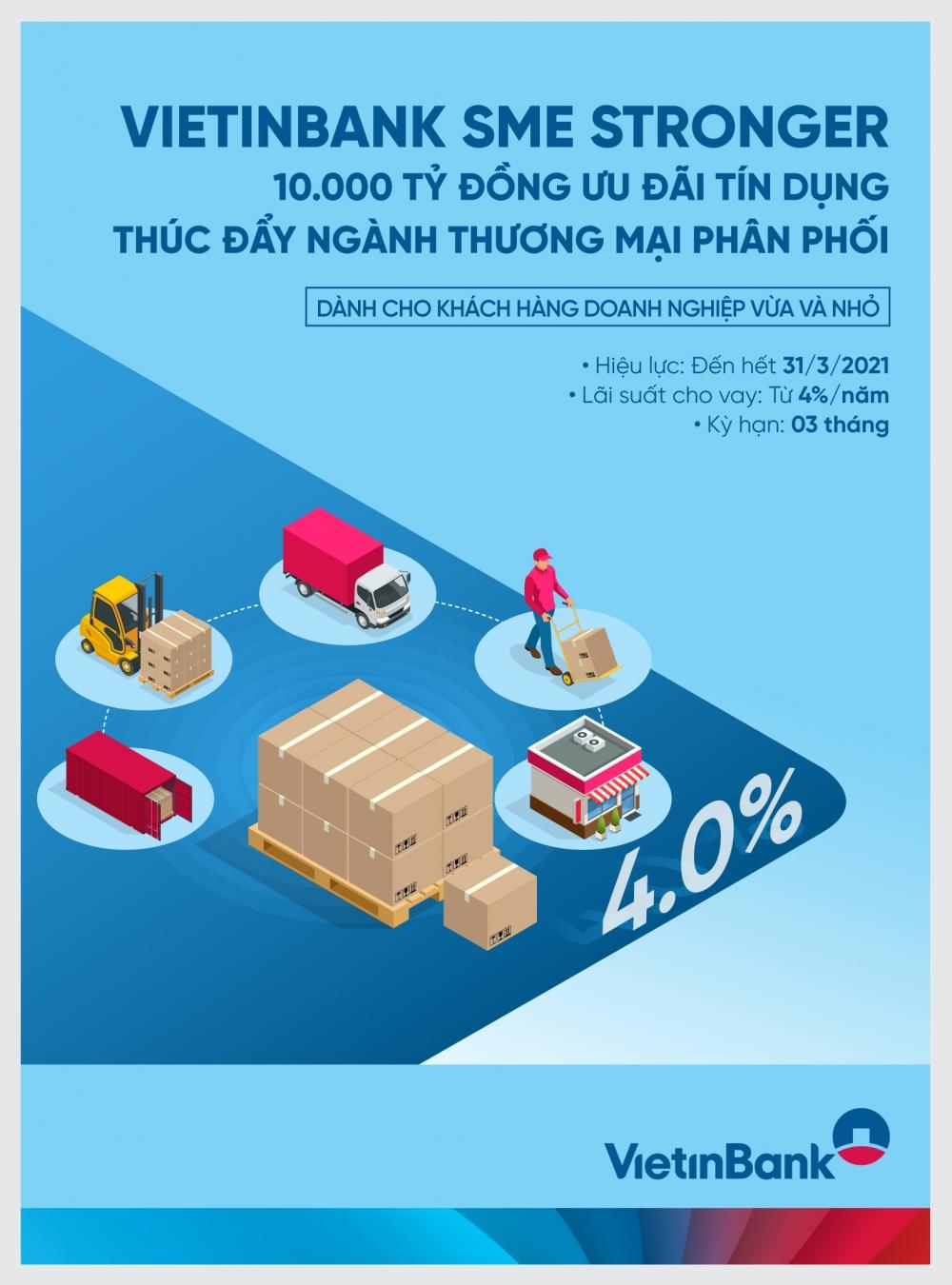 VietinBank SME Stronger: 10.000 tỷ đồng đồng hành cùng ngành Thương mại