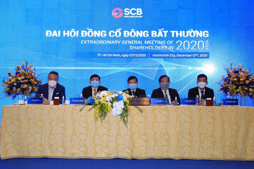 SCB tổ chức thành công Đại hội đồng cổ đông bất thường năm 2020